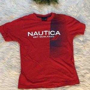 5 For $15 Boys Red Nautica Tee
